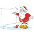 Santa Claus writing vector image vector image