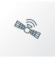 satellite icon line symbol premium quality vector image vector image