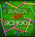 school learning background vector image vector image