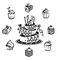 set cakes vector image vector image