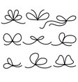 set lace bows vector image vector image
