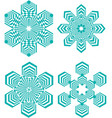 set of simple geometric design elements turquoise vector image vector image
