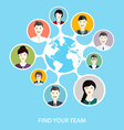 Social Networking and Social Media avatar Concept vector image vector image