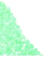 Spring leafs abstract border background vector image