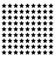 star line square design footer modern border vector image