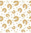 summer golden seamless pattern vector image vector image