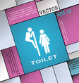 toilet icon sign Modern flat style for your design vector image