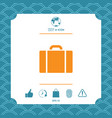 travel bag icon vector image vector image