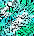 Tropical Monstera seamless pattern in colours on vector image vector image