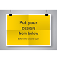 Twice a folded poster vector image vector image