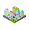 urban real estate isometric 3d icon vector image vector image