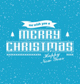 wish you merry christmas vector image vector image