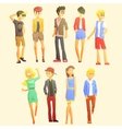 Young Stylishly Dressed People vector image vector image