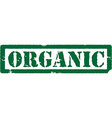 Green stamp oragnic vector image