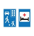 Road traffic signs vector image