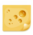Appetizing slice of cheese image vector image