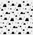 hand drawn forest and mountain pattern vector image