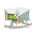 Living room design interior sketch vector image
