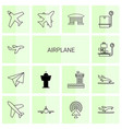 14 airplane icons vector image vector image
