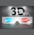 3d eyeglasses vector image