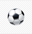 3d realistic football ball in black vector image