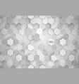 3d technology hexagonal abstract background vector image vector image