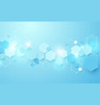 abstract blue hexagon futuristic background vector image vector image