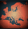 africa and europe abstract map vector image vector image