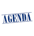 agenda blue grunge vintage stamp isolated on white vector image vector image