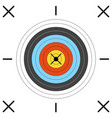 aim for archery crossbow on white background vector image