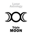 astrology triple moon vector image