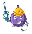 automotive tasty fig fruit isolated on mascot vector image vector image