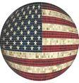 Ball with USA flag vector image vector image
