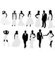 brides and grooms vs vector image vector image