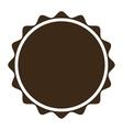 Brown circular badge icon vector image
