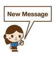 business woman reading a text message vector image