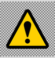 caution triangle sign vector image vector image