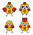 chickens set vector image