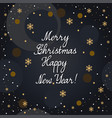 christmas card with lettering vector image vector image
