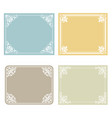 classic frame set vector image vector image