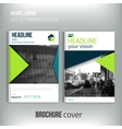Clean brochure cover template with blured city vector image vector image