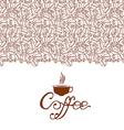 cofee contour brown vector image vector image
