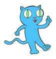 comic cartoon cat with idea vector image vector image