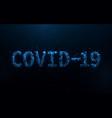covid19-19 coronavirus concept typography design vector image vector image