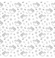 cute sloth seamless pattern cartoon hand drawn vector image vector image