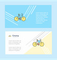 cycle abstract corporate business banner template vector image vector image