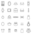 Dressing line icons on white background vector image