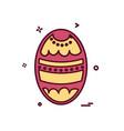 egg icon design vector image vector image