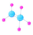 electrons molecule icon isometric 3d style vector image vector image