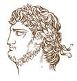 emperor nero vintage drawing vector image vector image